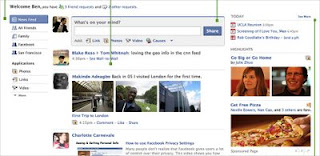 Nuova home page di Facebook