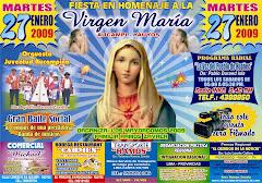 Festividad en Homenaje a la Virgen Marìa