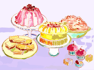 sweets+cutout+01 Dessert in Pen and Ink and Watercolor