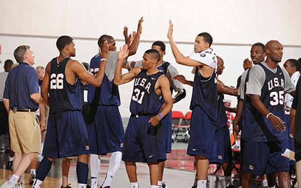 derrick rose team usa. The team is stacked with small