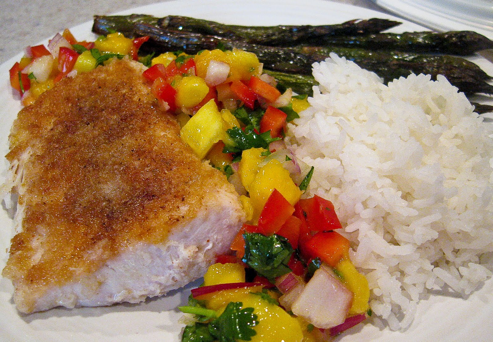 Seared Panko Crusted Mahi Mahi with Mango Salsa - The ...