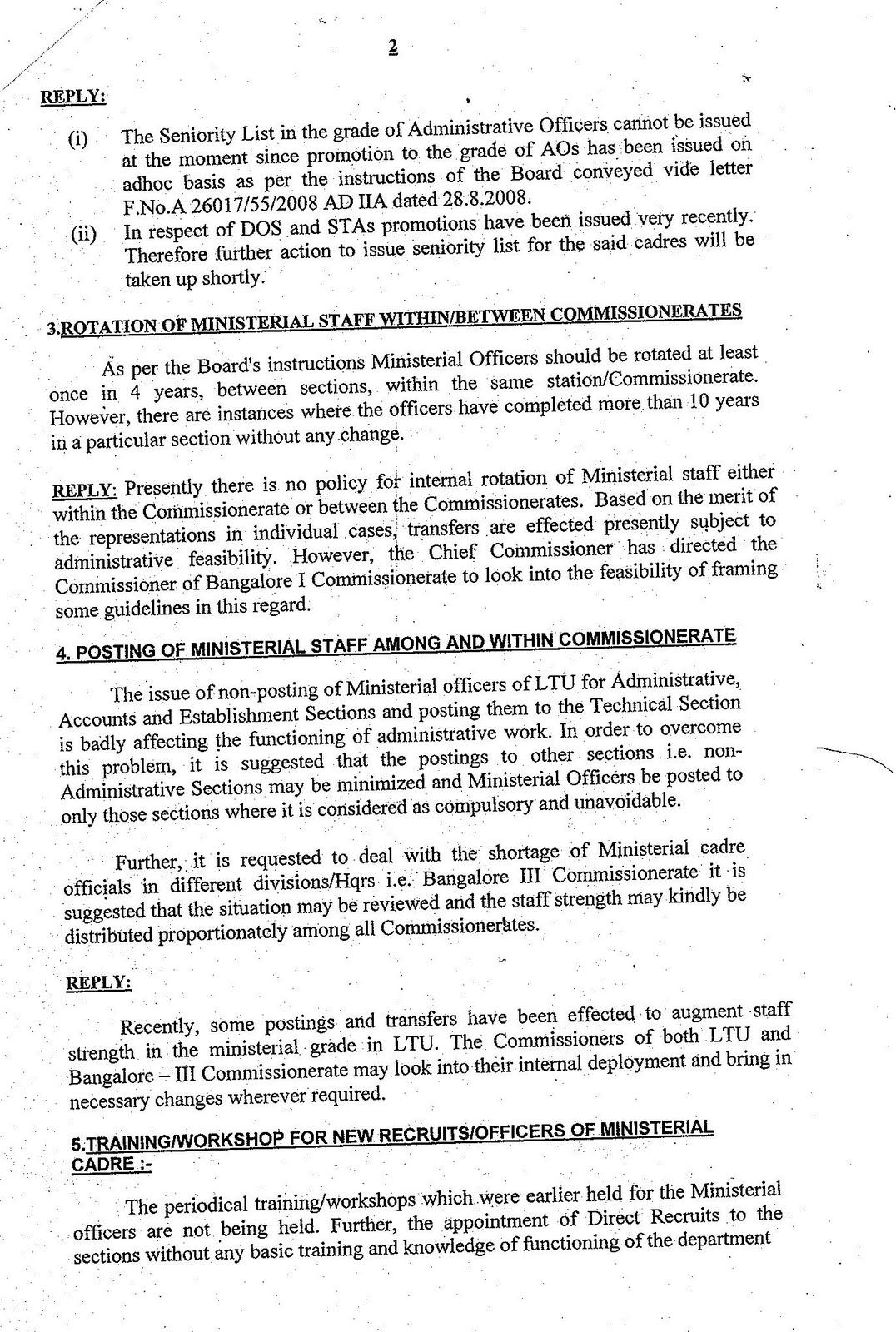 karnataka customs central excise service tax and ltu ministerial rh karmin cce blogspot com Senior Employment Union Seniority