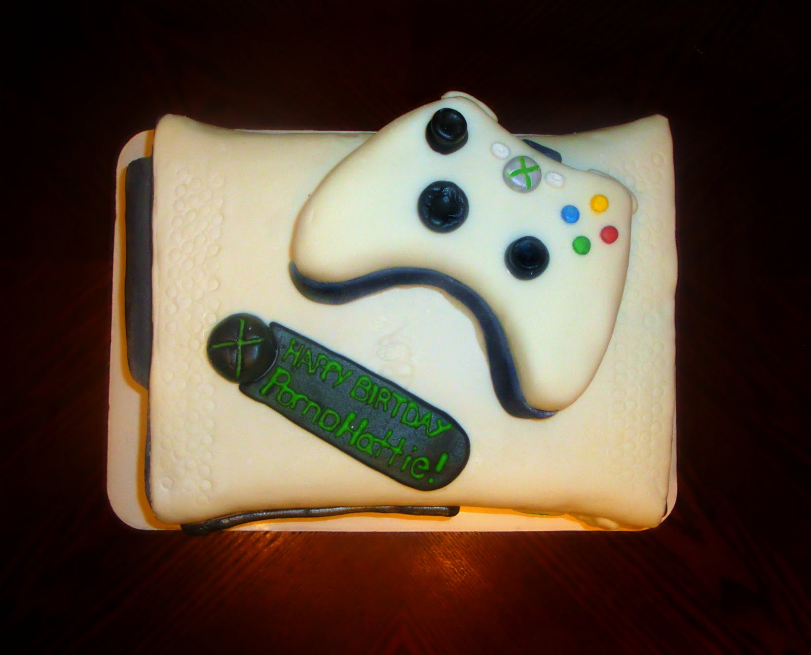 how to make an xbox 360 cake