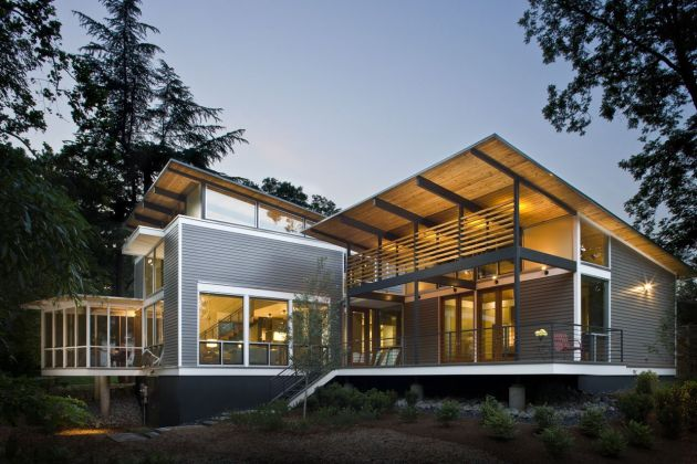 Solid and Beautiful : Rainshine Modern House,USA - Arsitek Muda