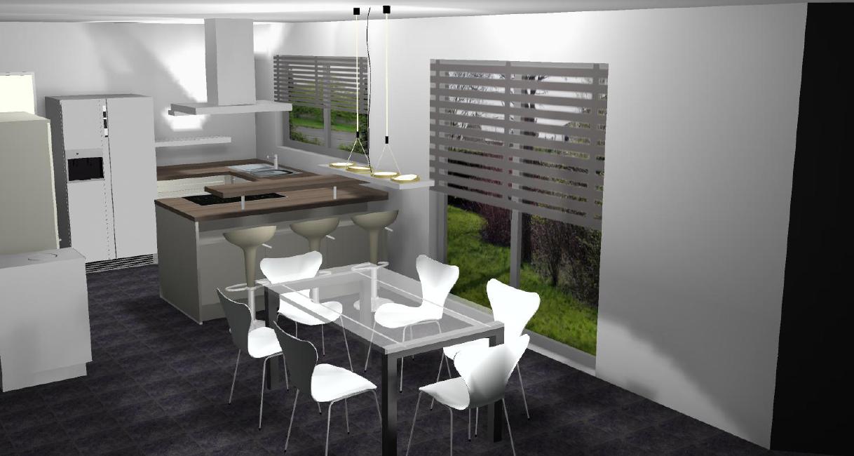 unser fertighaus mit kampa k che. Black Bedroom Furniture Sets. Home Design Ideas