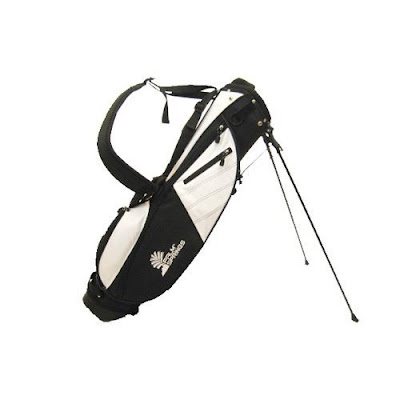 Providence College Friars golf bag colored white and black.