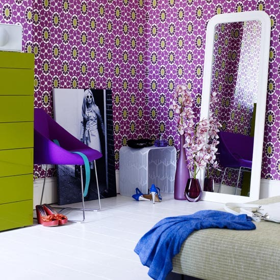 Purple Wallpaper For Rooms At Inspired Blogs