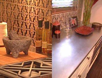 home interior design decor moroccan tile kitchen backsplash