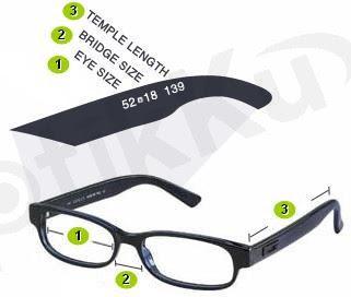Eyeglass Frame Parts Diagram : JESSLYN OPTICAL: Cara Membaca Size ( ukuran ) Frame Kacamata