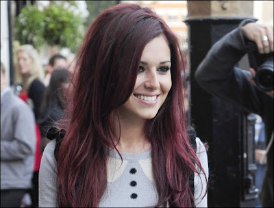 plum hair colour. Cheryl+cole+hair+dye+
