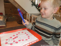 NAMC montessori winter holiday activities magnetic snowman