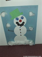 NAMC montessori winter holiday activities decorating snowman