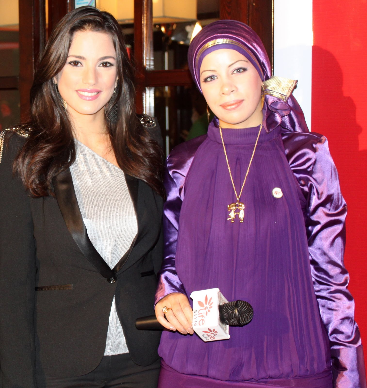 مع الفنانة درة التونسية عام 2010