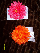 Crochet Headbands with Gerber Daisy