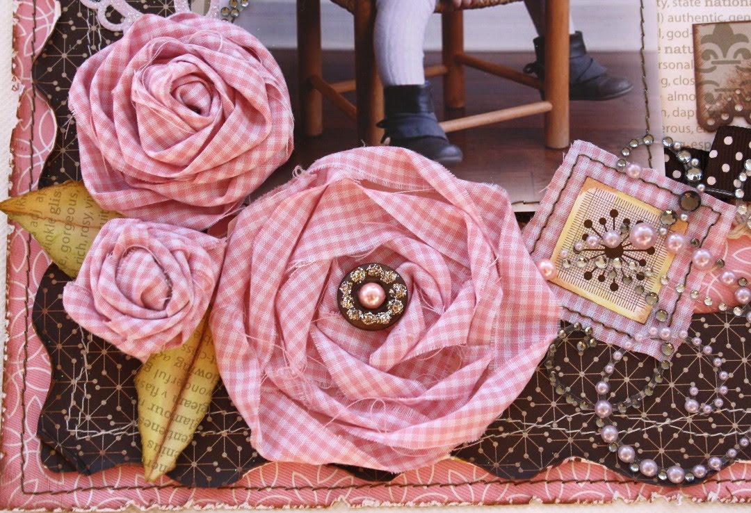 Tuto fleurs en tissu