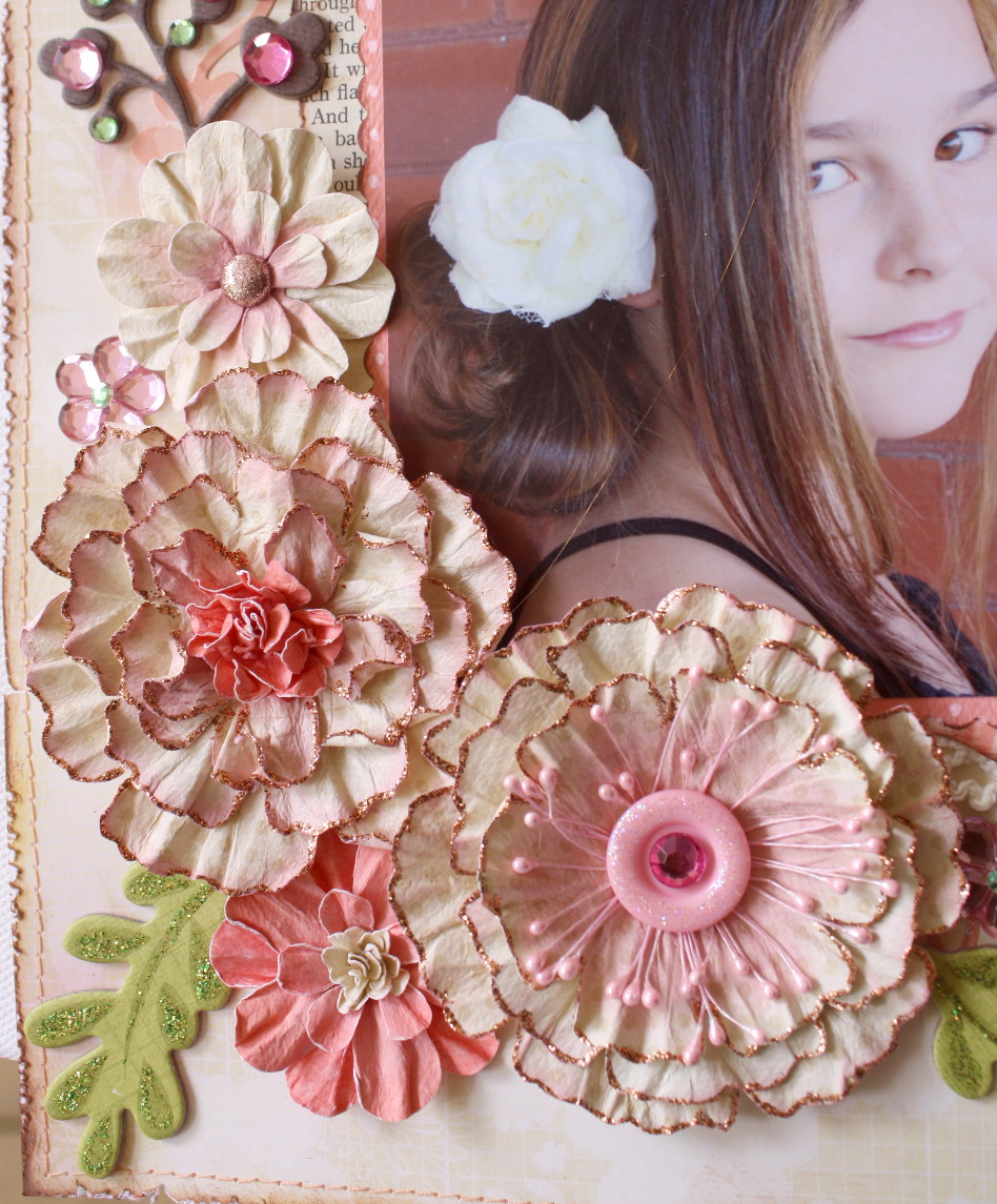 The BoBunny Blog: Water Distressed Blooms Tutorial