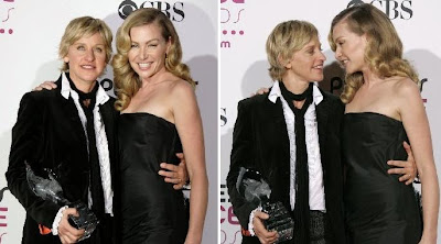 Ellen and Portia sitting in a tree