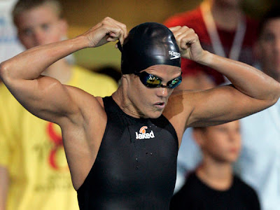 Dara Torres I focus on her abs so much I forget she has killer arm cleavage.