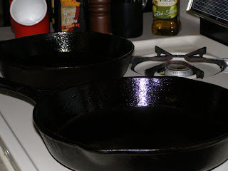 well seasoned skillets