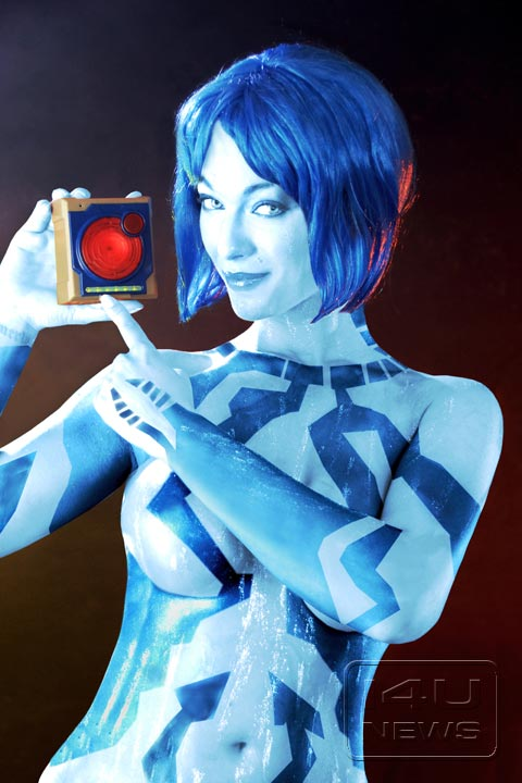 Video game cosplay halo cortana cosplay