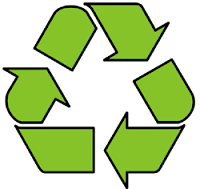 Responsible Writers Recycle Stories.  Image of Universal Recycling Logo, devised by Gary Anderson - public domain