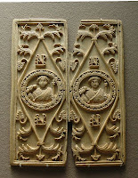 Consular diptych of Areobindus, photographed by Jastrow at the Louvre Museum, Paris - via Wikimedia Commons.  Released by author into public domain.