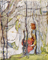 Thomas the Rhymer and the Queen of Elphame, by Kate Greenaway - via Wikimedia Commons - public domain