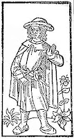François Villon from the Grand Testament de Maistre François Villon, Paris, 1489 - via Wikipedia Commons - public domain