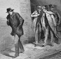 With the Vigilance Committee in the East End: A Suspicious Character - Illustrated London News 1888 - public domain, via Wikimedia Commons.