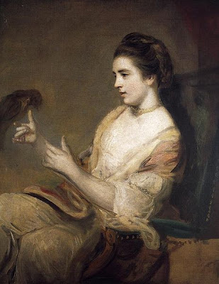 Kitty Fisher and parrot - by Sir Joshua Reynolds (1764) - public domain, via Xn4 at Wikimedia Commons