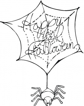 Halloween Coloring Pages Halloween Spider Coloring Pages Spider Spider Web Coloring Page