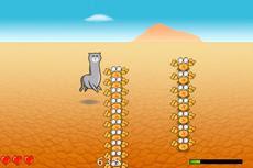 草泥马在沙漠上奔驰
