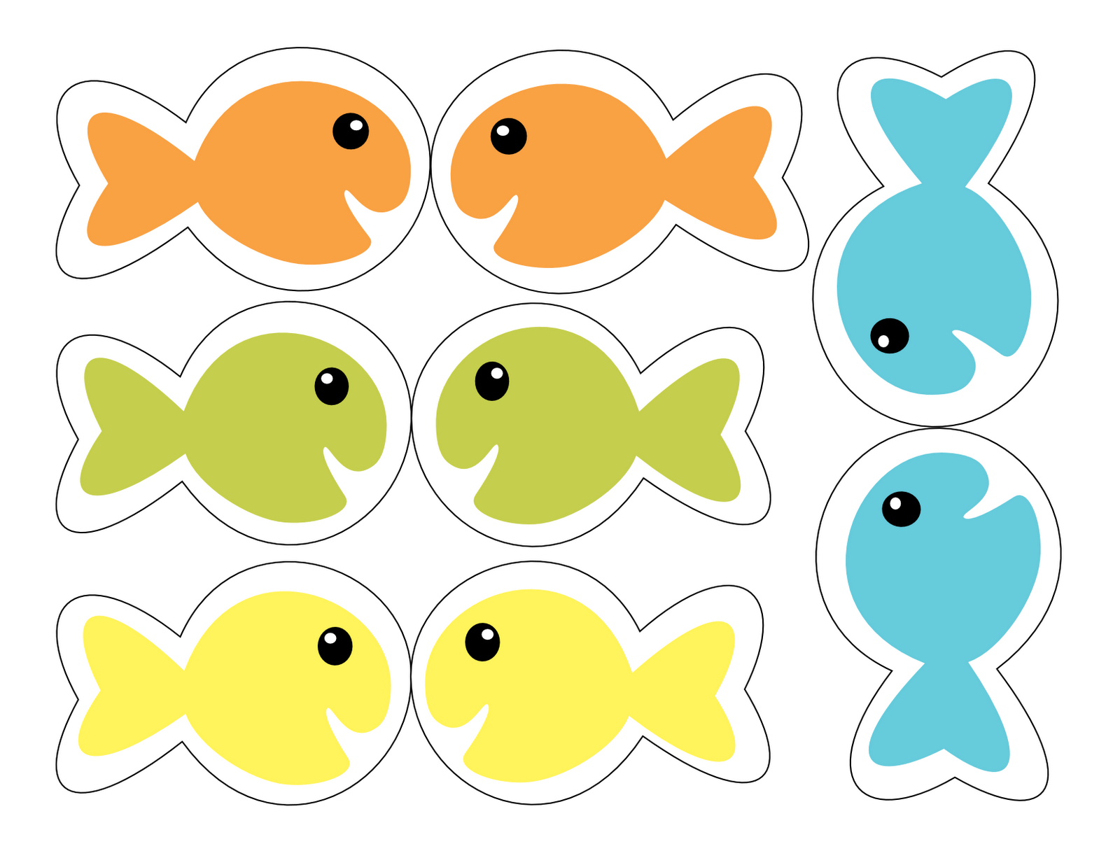 Adorable image with fish printable
