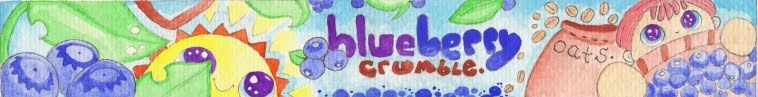 blueberry crumble crafts.