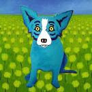 A Blue Dog by Rodrigue