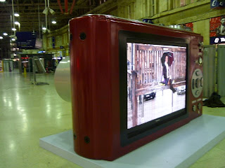 Panasonic giant camera plasma tv screen