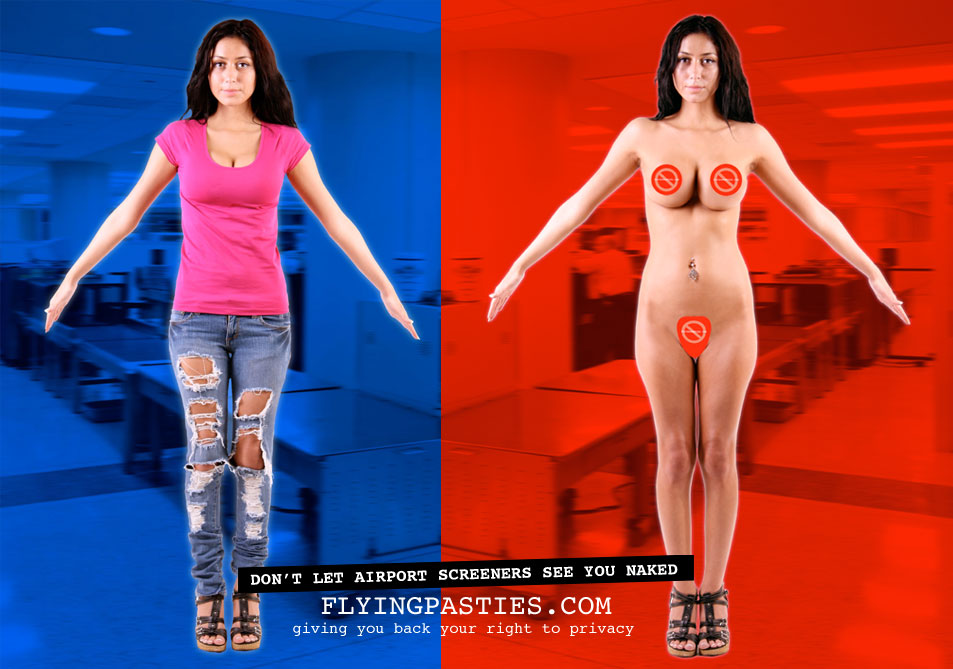 Flying Pasties Protects your Privacy at Airport Full-Body Scanners