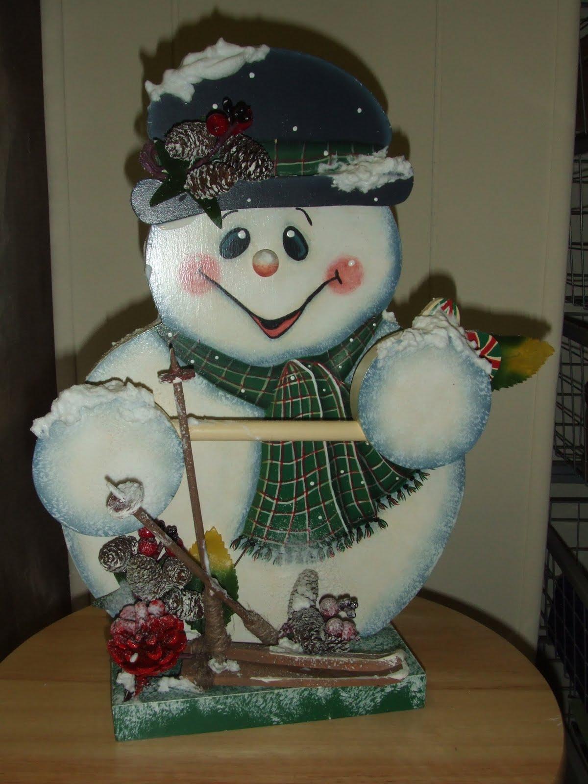 Cr ations hgf peinture sur bois - Bonhomme de neige en bois ...