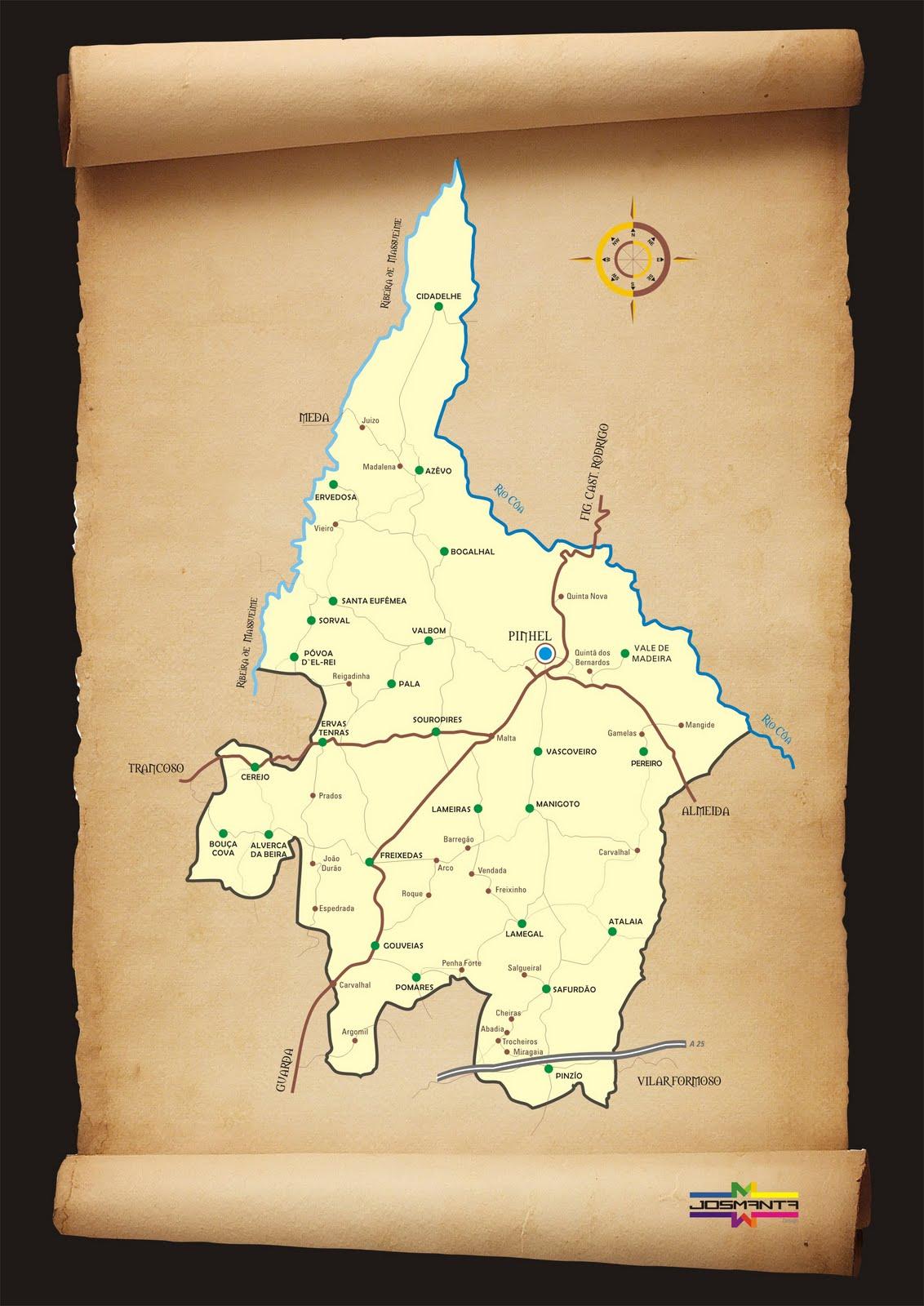 Mapa do concelho de Pinhel