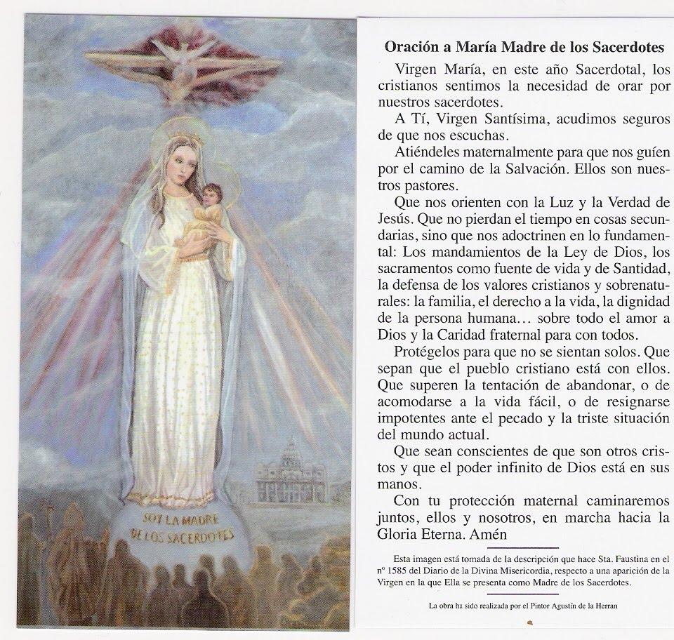 MADRE DE LOS SACERDOTES RUEGA POR NOSOTROS