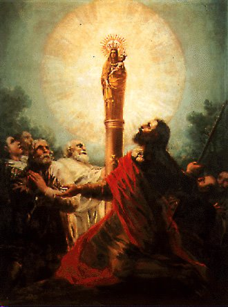 APARICIÓN DE LA VIRGEN DEL PILAR A SANTIAGO APOSTÓL