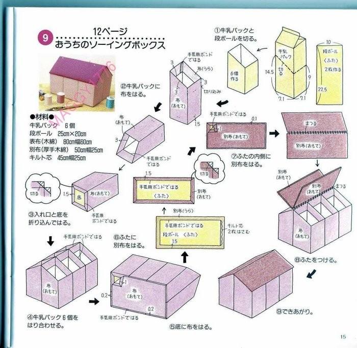 Схема домика из коробки своими руками
