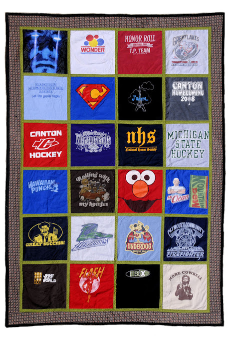Turn your T-shirt collection into a keepsake quilt