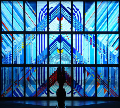 Stained Glass Window, Ranginui Door - photo Ken Allan