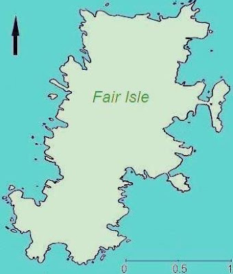 Map of Fair Isle