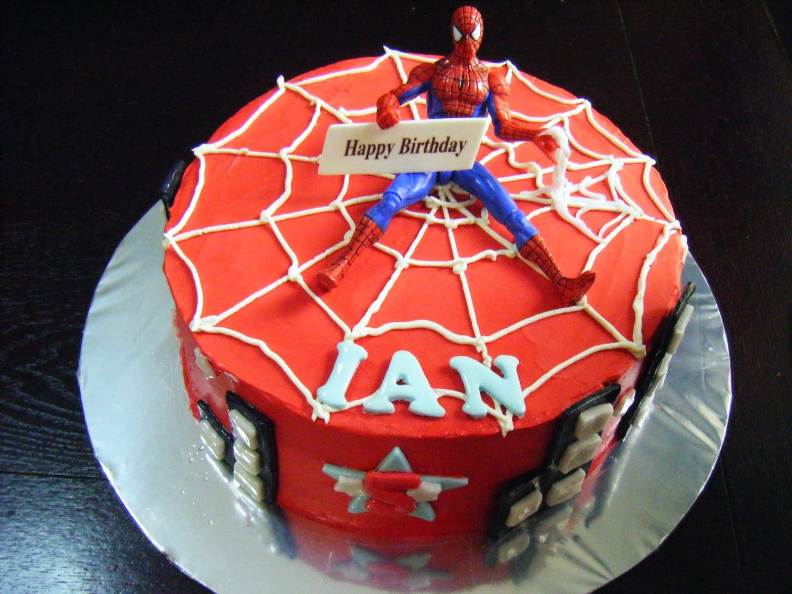 Spiderman Buttercream Cake Design : ~~~Ecupcakes~~~: SpiderMan ButterCream Cakes