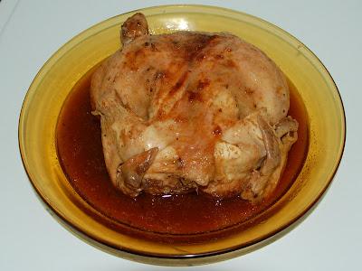 Pollo asado directo al horno