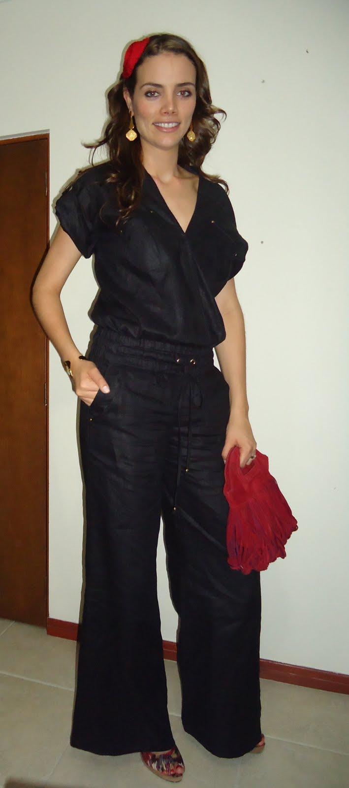 que decidi vestirme con un enterizo de Renata Lozano, accesorios de ...