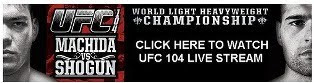 UFC 104 Live Stream Machida vs Shogun