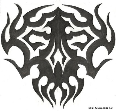 Skull Tribal Art